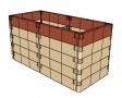 Kit de construction de jardin basalte (130x60x13cm)