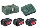 Set base con batterie 18 Volt (3 x 5.2 Ah batterie , caricatore ASC 30-36, MetaLoc II)