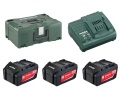 Set base di batterie 18 Volt  (3 x 4 Ah batterie , caricatore ASC 30-36, MetaLoc II)