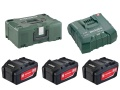 Set base 18 Volt (3 batterie x 5.2 Ah, caricatore ASC Ultra, MetaLoc II)