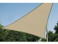VOILE SOLAIRE PERM�ABLE - TRIANGLE - 3.6 x 3.6 x 3.6 m - COULEUR : CHAMPAGNE