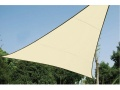 VOILE SOLAIRE PERM�ABLE - TRIANGLE - 5 x 5 x 5 m - COULEUR : CHAMPAGNE