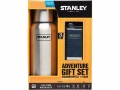 Adventure Gift Set, Vaccum Bottle, 18/8 Stahl, navyblaue Adventure Flask