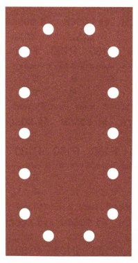 Bosch Bandes abrasives Expert for Wood, 10 unités, 14 trous, Klett, 115 x 230 mm, 180