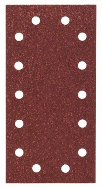 Bosch bandes abrasives Expert for Wood, 10 unités, 14 trous, Klett, 115 x 230 mm, 40