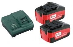 Metabo Kit de base 2x 18V/4.0Ah batteries + chargeur ASC 30-36 V