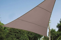 Perel VOILE SOLAIRE - TRIANGLE - 3.6 x 3.6 x 3.6 m - COULEUR: GRIS TAUPE