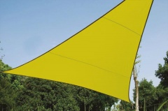 Perel VOILE SOLAIRE - TRIANGLE - 3.6 x 3.6 x 3.6 m - COULEUR: VERT LIME