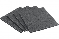 Wolfcraft 4 Tapis antidérapants pour arrimage