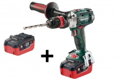 Metabo Perceuse à percussion sans fil 18 volts SB 18 LTX Quickavec 2 batteries LIHD de 5,5 Ah et chargeur ASC 30-36 V