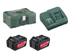 Metabo Kit de base 18 Volt  (2 batteries de 4 Ah , Chargeur ASC 30-36, MetaLoc II)