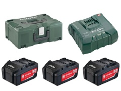 Metabo Set de base 3 x 5.2 Ah ASC Ultra + Metaloc - 685068000