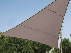 Perel VOILE SOLAIRE - TRIANGLE - 5 x 5 x 5 m - COULEUR: GRIS TAUPE