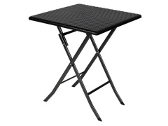Toolland TABLE PLIANTE - IMITATION ROTIN - 62 x 62 x 73.5 cm