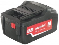 Metabo Batteries Li-Ion coulissante « AIR COOLED » 18 V / 5,2 Ah - 62559200