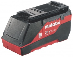 Metabo Batteries Li-Ion coulissante « AIR COOLED » 36 V / 5,2 Ah - 62552900