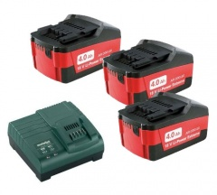 Metabo Kit de base 3x 18V/4.0 Ah + chargeur ASC 30-36 V