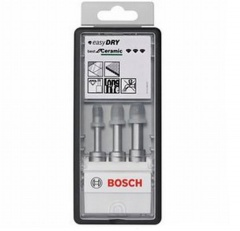 Bosch Forets diamantés à sec Robust Line Easy Dry Best for Ceramic, set de 3 pièces