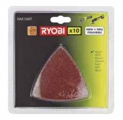 Ryobi Kit 10 triangles abrasifs pour Multitool  RAK10MT