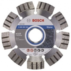 Bosch Disque à tronçonner diamanté Best for Stone 115 x 22,23 x 2,2 x 12 mm