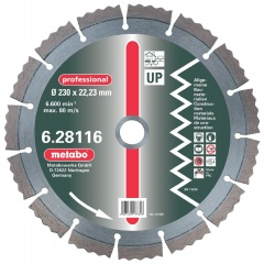 "Metabo Meule de tronçonnage diamantée, 115 x 2,15 x 22,23 mm, ""professional"", ""UP"", universelle"