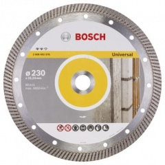 Bosch Disque à tronçonner diamanté Expert for Universal Turbo 230 x 22,23 x 2,8 x 12 mm