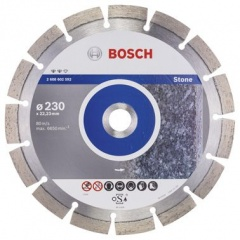 Bosch Disque � tron�onner diamant� Expert for Stone 230 x 22,23 x 2,4 x 12 mm
