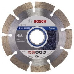 Bosch Disco diamantato Standard for Stone 115 x 22,23 x 1,6 x 10 mm
