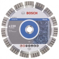 Bosch Disque à tronçonner diamanté Best for Stone 230 x 22,23 x 2,4 x 15 mm