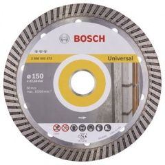 Bosch Disque à tronçonner diamanté Best for Universal Turbo 150 x 22,23 x 2,4 x 12 mm
