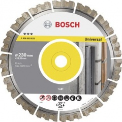 Bosch Disque à tronçonner diamanté Best for Universal 115 x 22,23 x 2,2 x 12 mm
