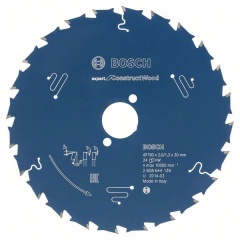 Bosch Lame de scie circulaire Expert for Construct Wood 165 x 20 x 2,0 mm, 24