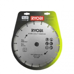 Ryobi Blister disque diamant 230 mm pour meuleuse d'angle AGDD230A1