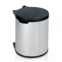 Brabantia Poubelle encastrable, 15 litres - Brilliant Steel