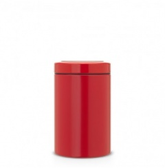 Brabantia Boîte à couvercle transparent, 1.4 litre - Passion red