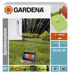 Gardena Kit Arroseur oscillant escamotable OS 140