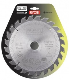 Ryobi Lame carbure 216 mm scie à coupe d'onglet SB216T24A1