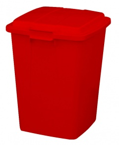 GRAF Afval-/recyclingcontainer 90l rood kunststof H600xB485xT510mm