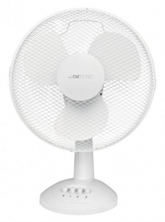 Clatronic Ventilateur de table VL 3602 blanc 30cm