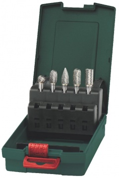 Metabo Set de fraises carbure, queue de 6 mm, 5 pièces