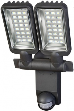 Brennenstuhl Projecteur LED Duo Premium City SV5405 PIR IP44 avec détecteur de mouvements infrarouge 54x0,5W 2160lm