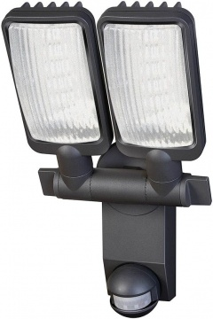 Brennenstuhl Lampe LED Duo Premium City LV5405 PIR IP44 avec détecteur de mouvements infrarouge 54X0,5W 2160lm