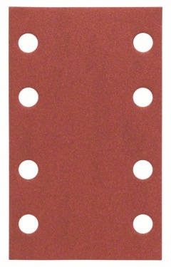 Bosch bandes abravsives Best for Wood, 10 unités, 8 trous, Klett, 80 x 133 mm, 240