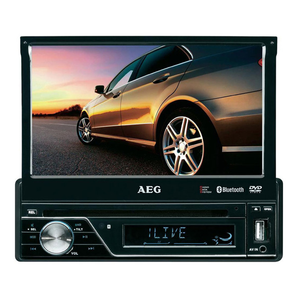 aeg autoradio lcd display dvd mp3 usb bluetooth. Black Bedroom Furniture Sets. Home Design Ideas