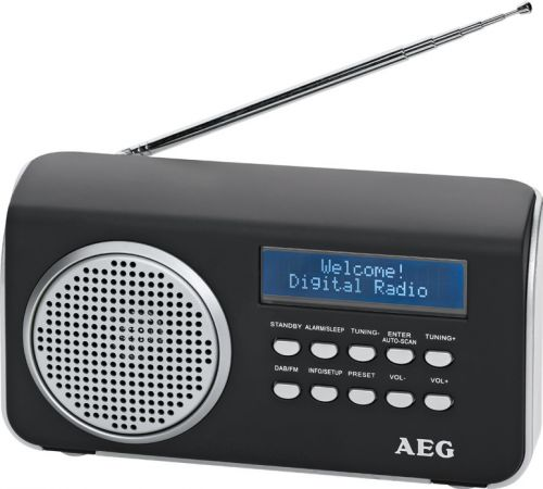 AEG Digitales Portables Radio DAB+ 4138 ( UKW, LCD-Display, AUX-IN) schwarz