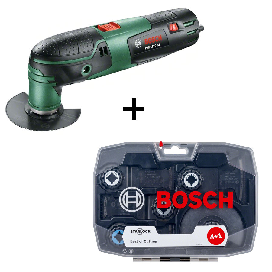 bosch outil multifonctions pmf 220 ce + starlock-set best of cutting