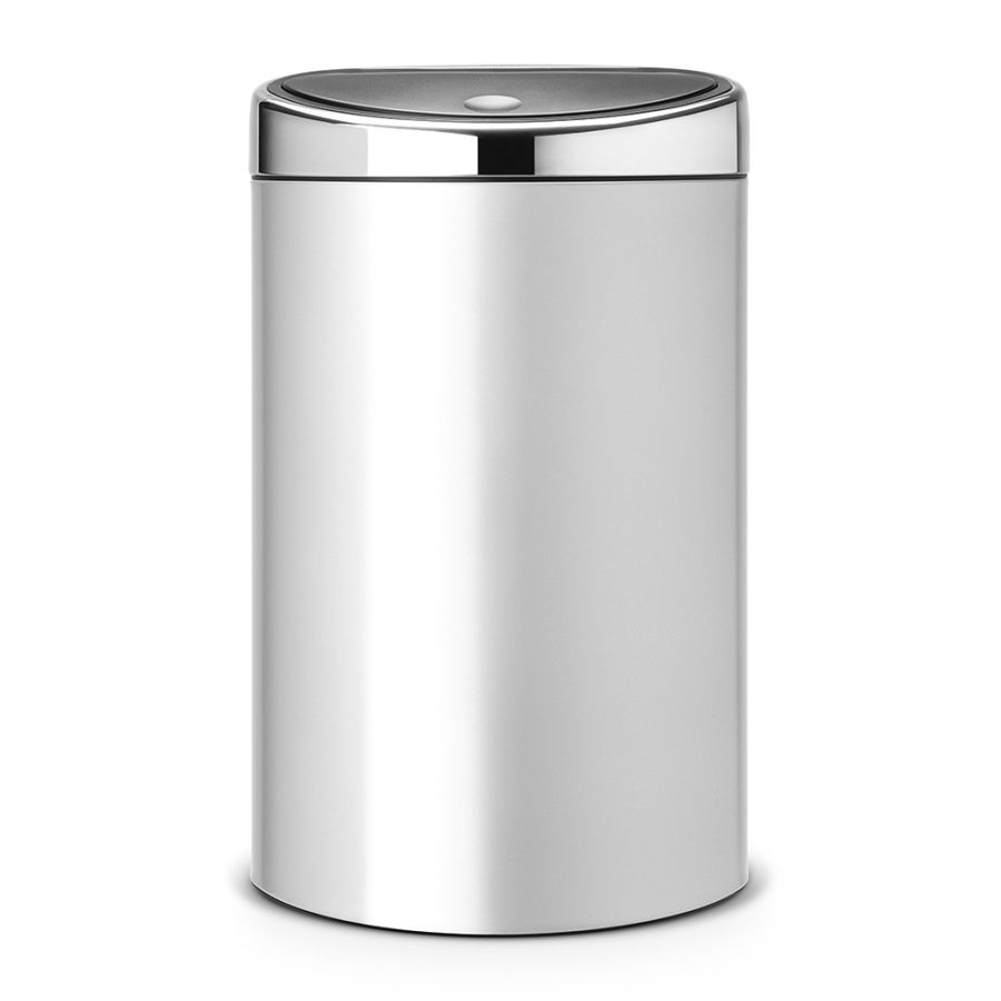 brabantia abfalleimer touch bin 40 l mit kunststoffeinsatz metallic grey. Black Bedroom Furniture Sets. Home Design Ideas