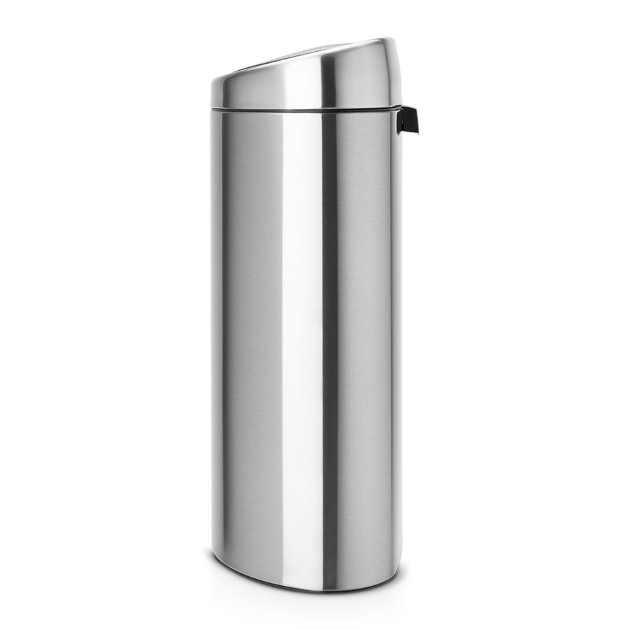 brabantia poubelle touch bin 40 litres matt steel fingerprint proof. Black Bedroom Furniture Sets. Home Design Ideas