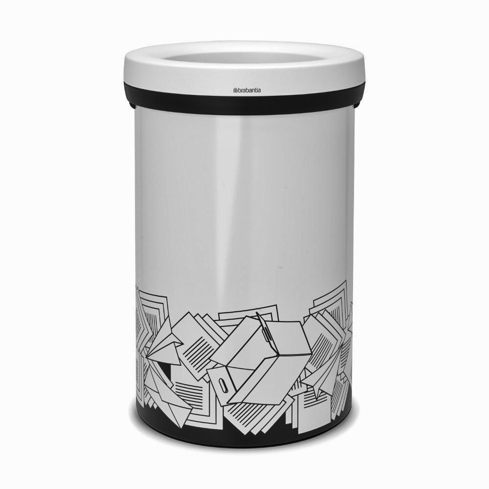 brabantia open top bin 60 l papierm ll white. Black Bedroom Furniture Sets. Home Design Ideas