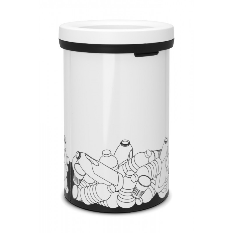 brabantia abfalleimer open top bin 60 l kunststoffm ll white 402746. Black Bedroom Furniture Sets. Home Design Ideas